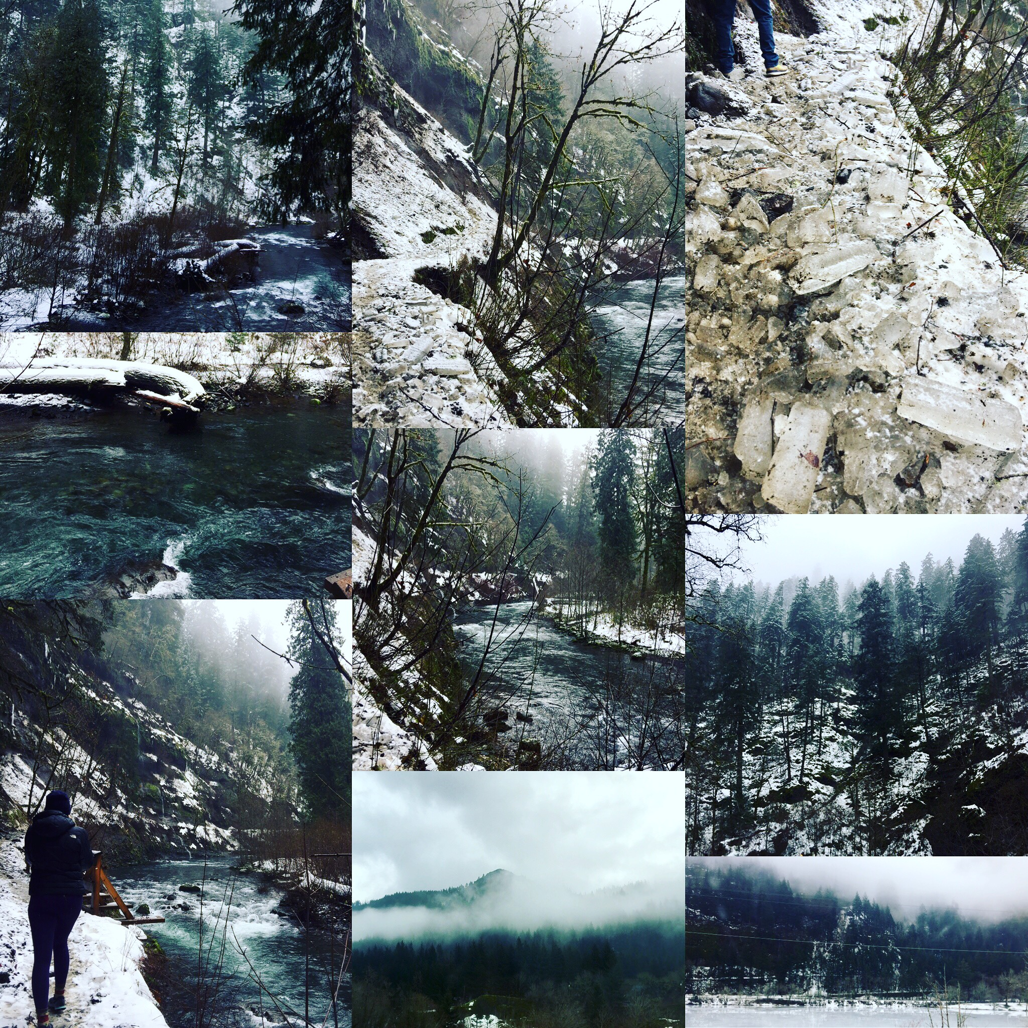 We hiked Eagle Creek at the first part of winter.