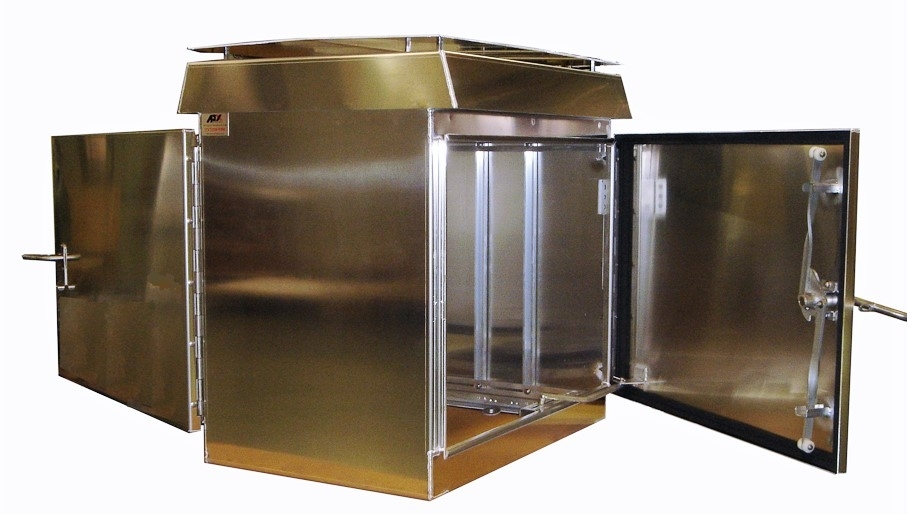 Custom metal enclosure manufactured by APX enclosures