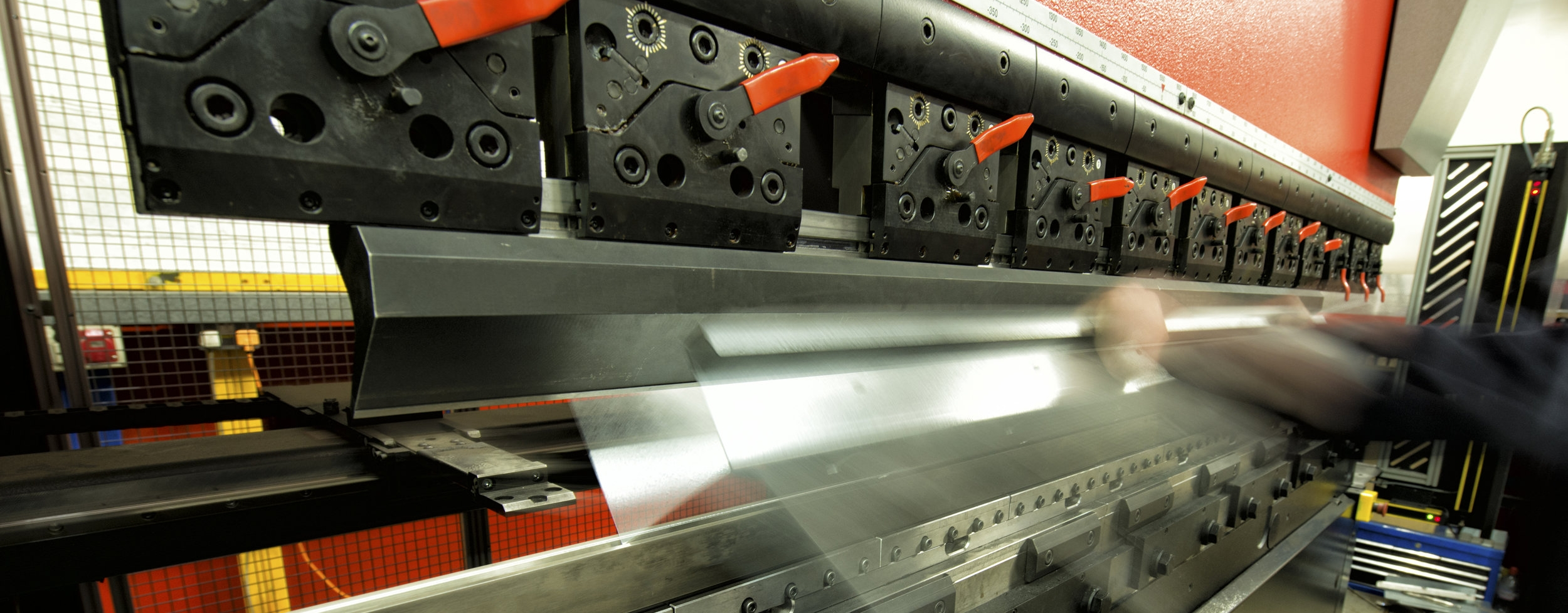 Press brake machine used to bend metal sheets