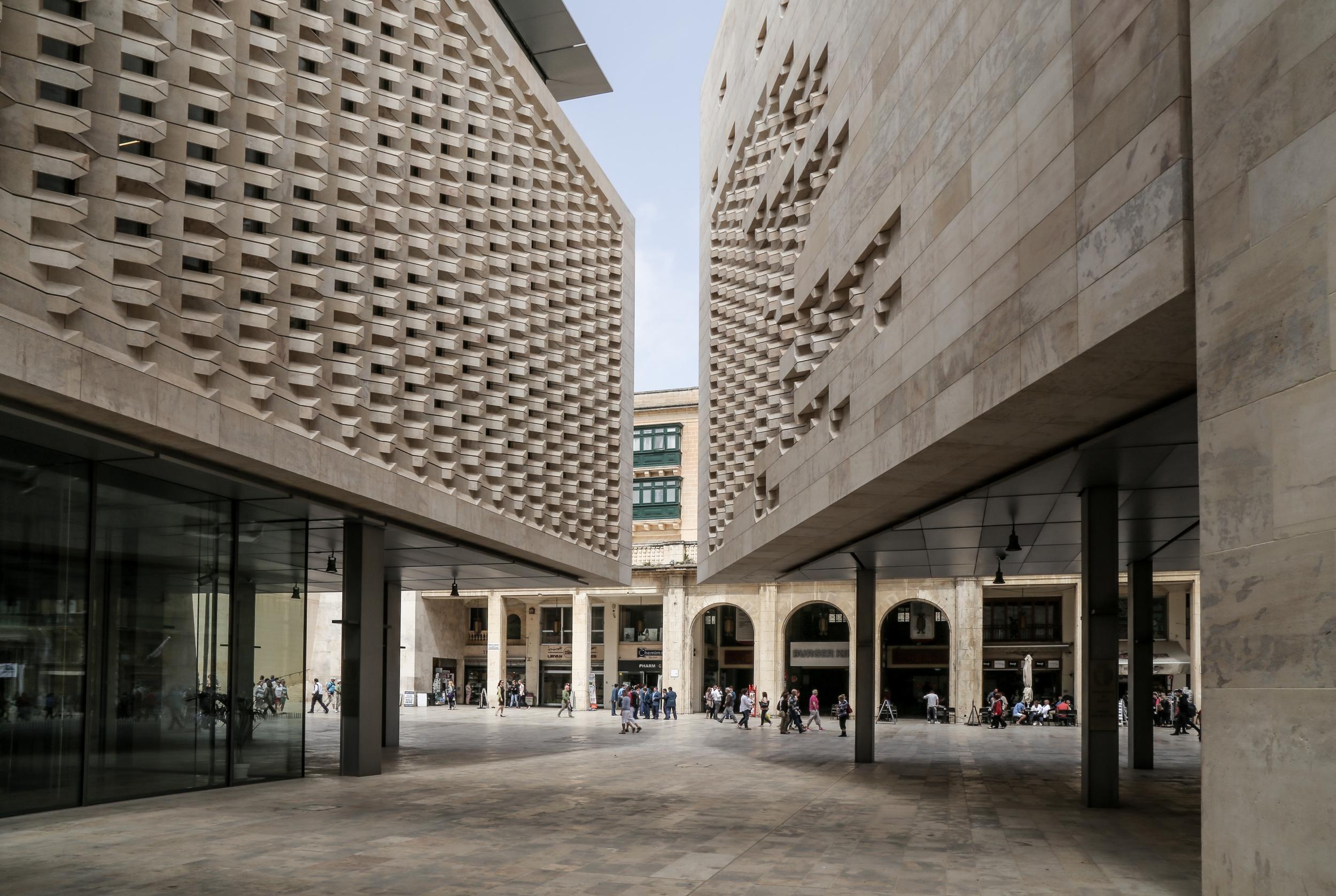 Parliament House at City Gate - Valletta, Malta - Renzo Piano