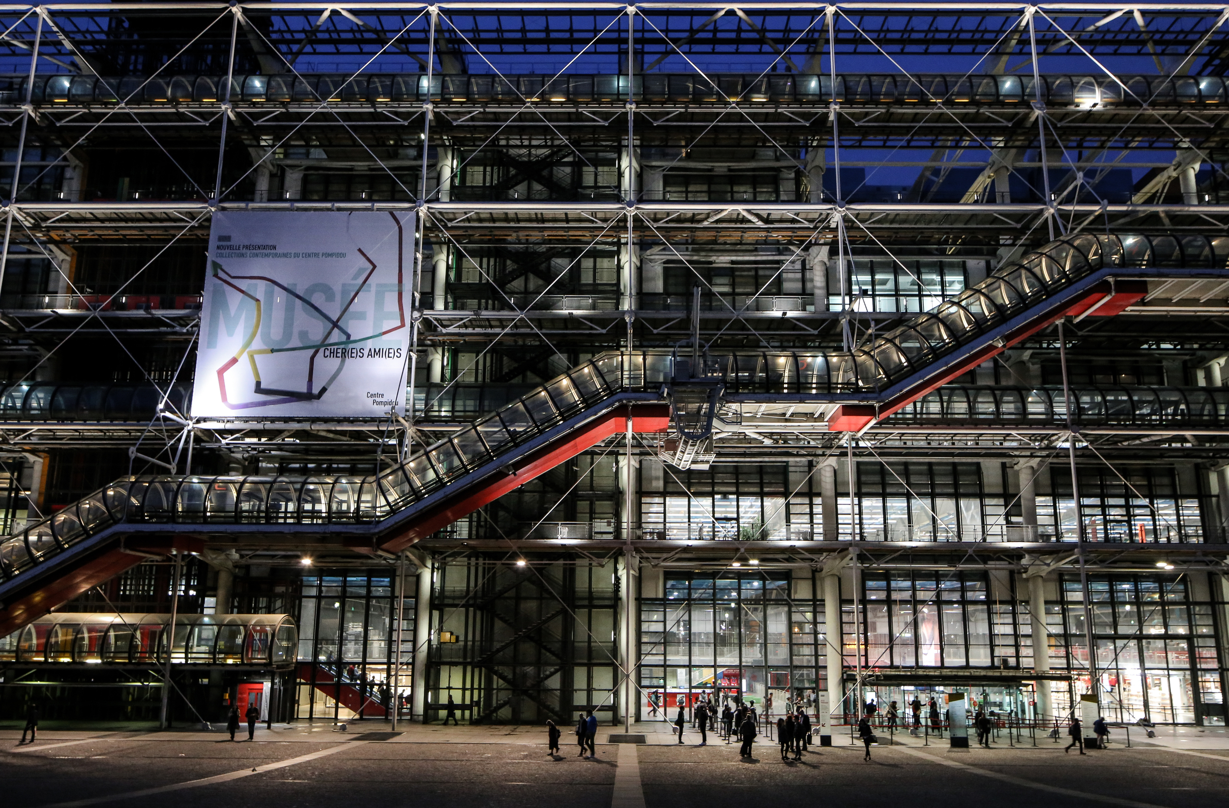 Centre Georges Pompidou - Paris, France - Renzo Piano, Richard Rogers, Peter Rice, Gianfranco Franchini, Mike Davies