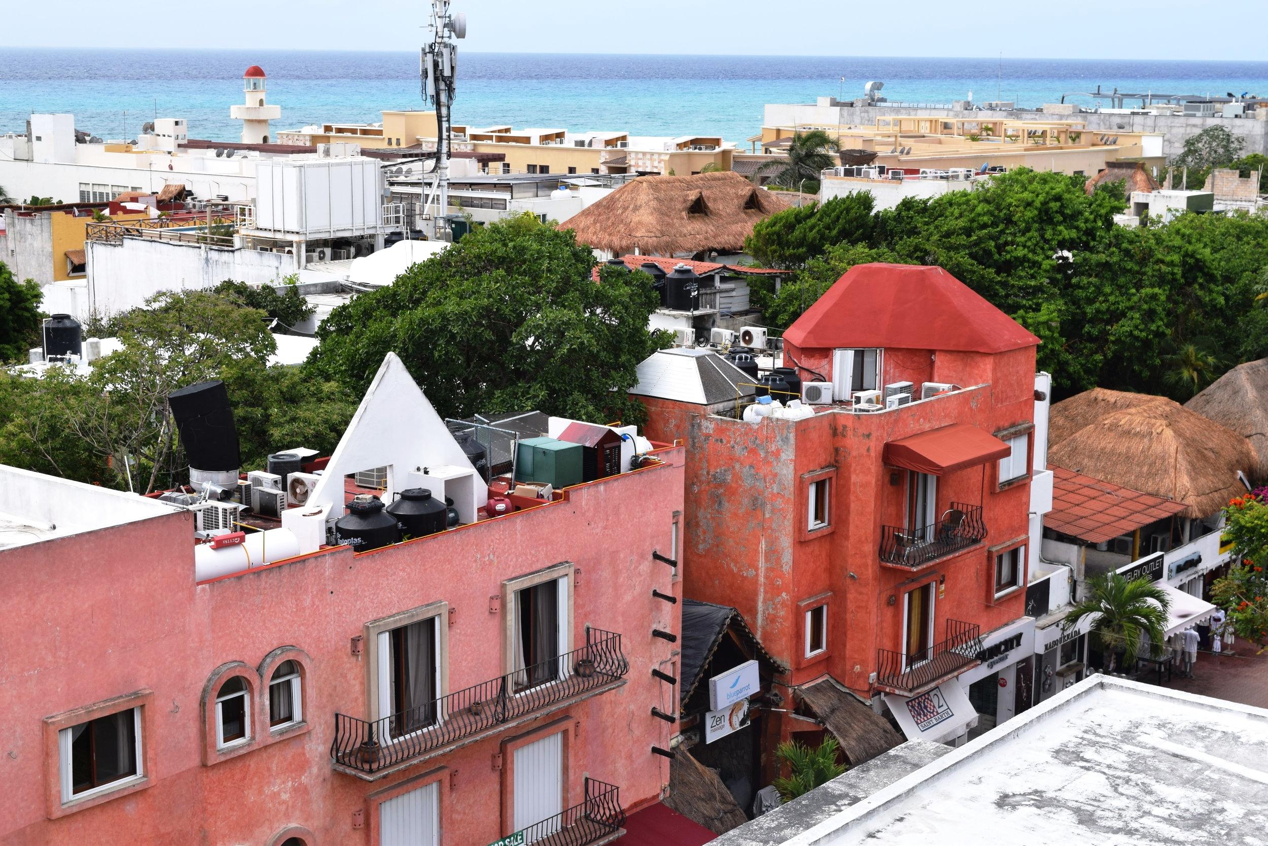 Spanish hacienda architecture outside our balcony.
