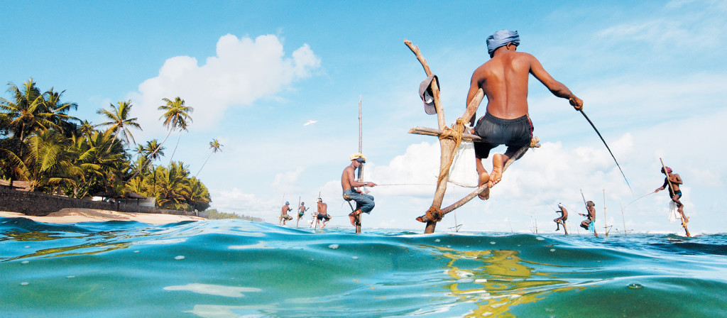 Sri Lankan Fishermen catching their lunch!