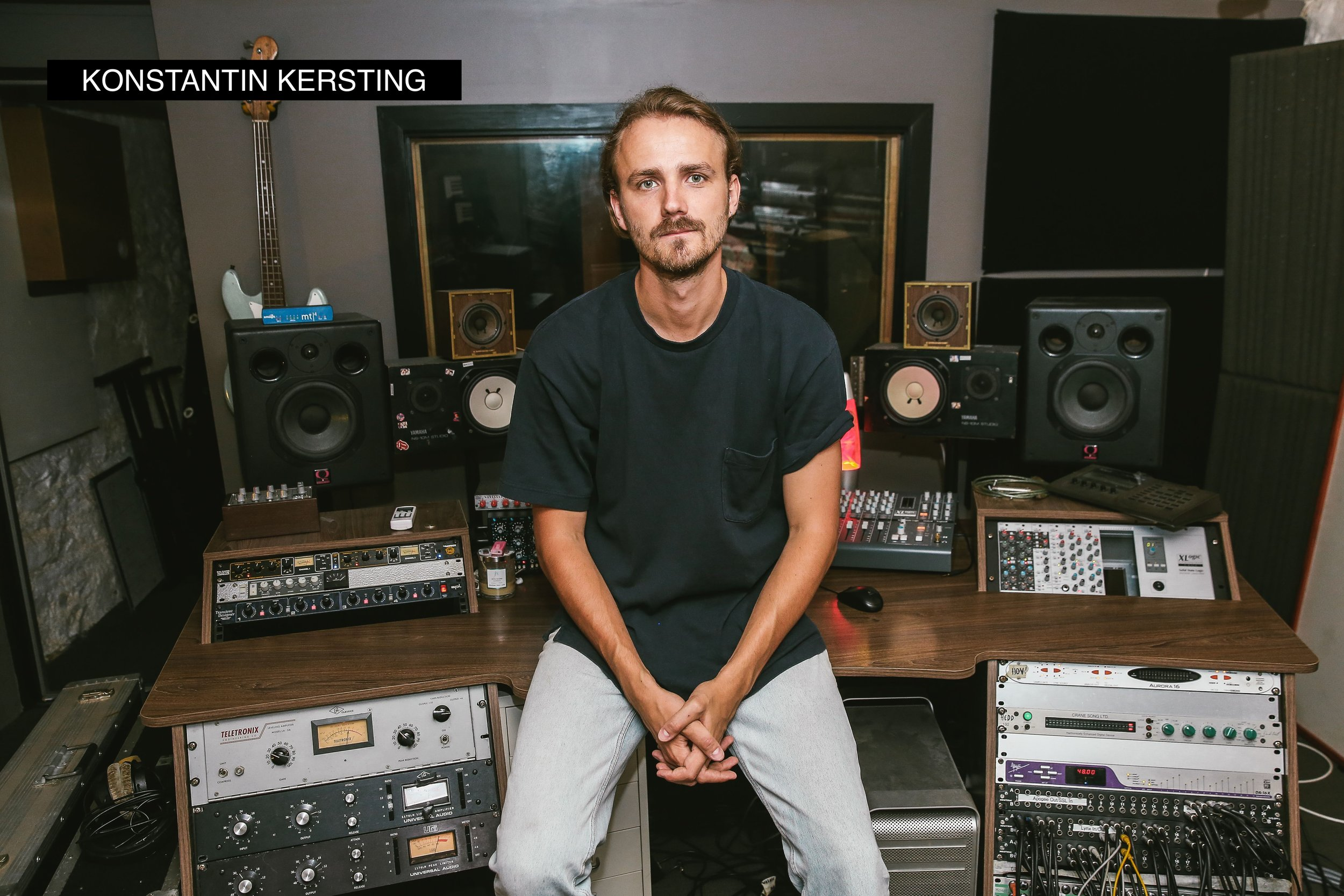 Across the range of different projects Konstantin Kersting has produced, engineered, written and mixed, there's one constant—his philosophy of working together with the artist.  To Kersting, the role of a producer is to help bring an artistic vision to life. It's about building a relaxed environment, developing good relationships and facilitating creativity—to make the best record possible.  Kersting first became obsessed with production while studying at uni, dreaming of replicating the sounds of the music that wowed him. But he got his start in music way before that, learning violin via the Suzuki method when he was four years old, before picking up bass guitar and double bass in his teens and playing with orchestras and jazz ensembles around his hometown of Berlin.  After relocating to Australia, Kersting earned a Bachelor of Music from QUT and then started on his production dream, working as an in-house sound engineer at Airlock Studios, under the renowned producer Yanto Browning. He picked up tips and tricks from nationally and internationally acclaimed producers Paul McKercher, David Schuler, Mirko Vogel, Paul Dempsey and Tom Iansek.  Since the start of his career, Kersting has worked across a range of different genres for a range of different artists, including: The Jungle Giants, The Church, Mallrat, WAXX, The Belligerents, Tia Gostelow & Moses Gunn Collective.