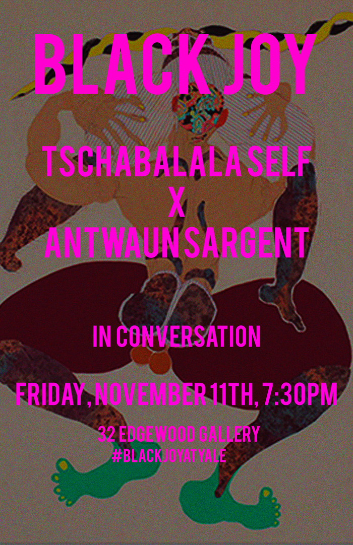 """Friday,November 11,starting at 7:30PM , Tschabalala Self in conversation with Antwaun Sargent   Tschabalala Self's work centers around depictions and preconceptions of the black female body in contemporary America. As concepts of blackness and femininity continually evolve, Self has dedicated herself to naming the phenomenon that forcibly frames our contemporary understanding of the black body in a collective fantasy.  Self's deep desire is to express the notion that black femininity cannot be simply categorized; that blackness is infinite, and black identity is too sublime to fit into any category. In this talk, with cultural and art critic Antwaun Sargent, she will reflect on her current solo exhibition """"Gut Feelings"""" , that examines the voyeurism and fantasies that surround the idea of black feminine beauty.  Facebook Event link :   https://www.facebook.com/events/933684553402770/"""