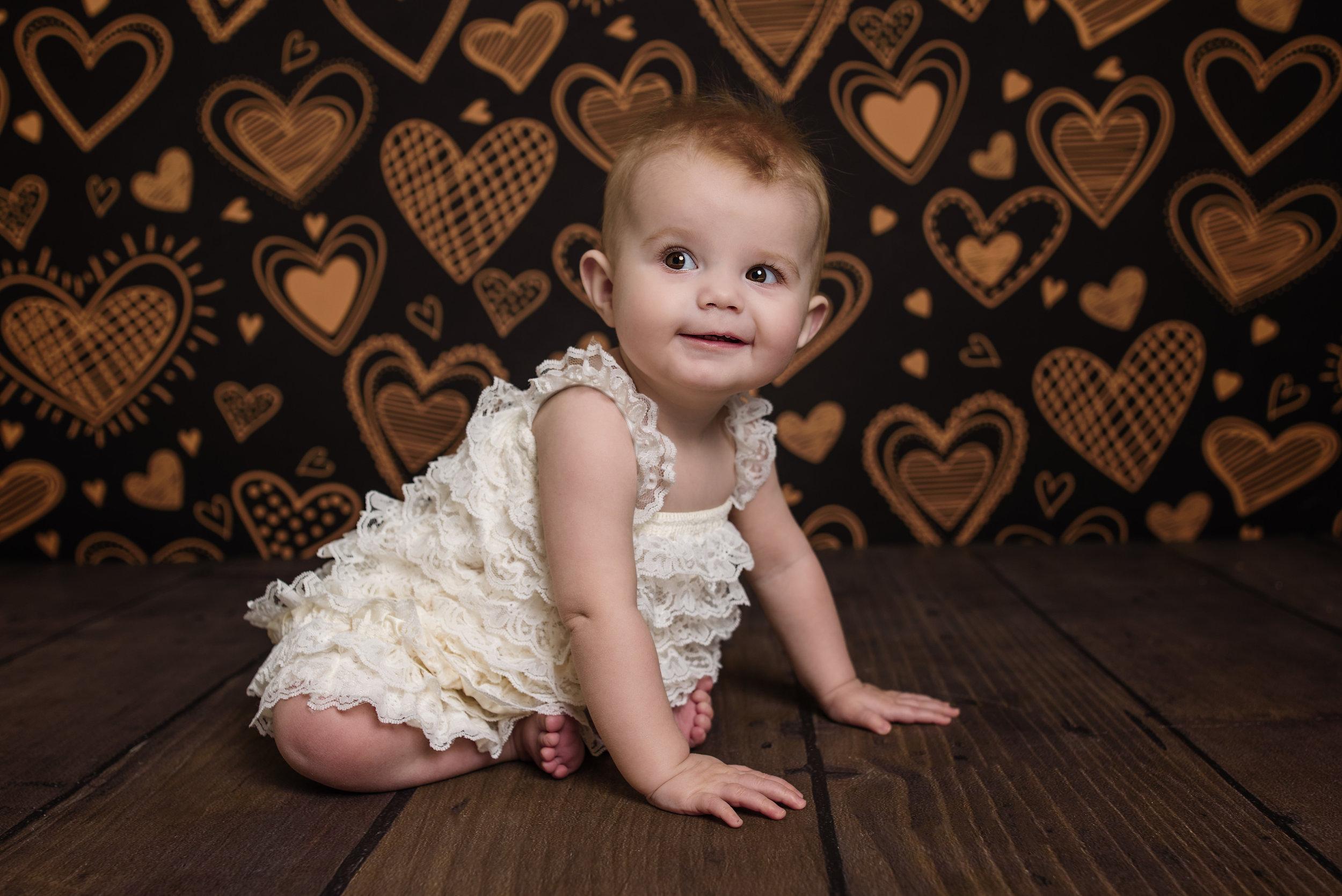 Hearts And Dark Wood Floor