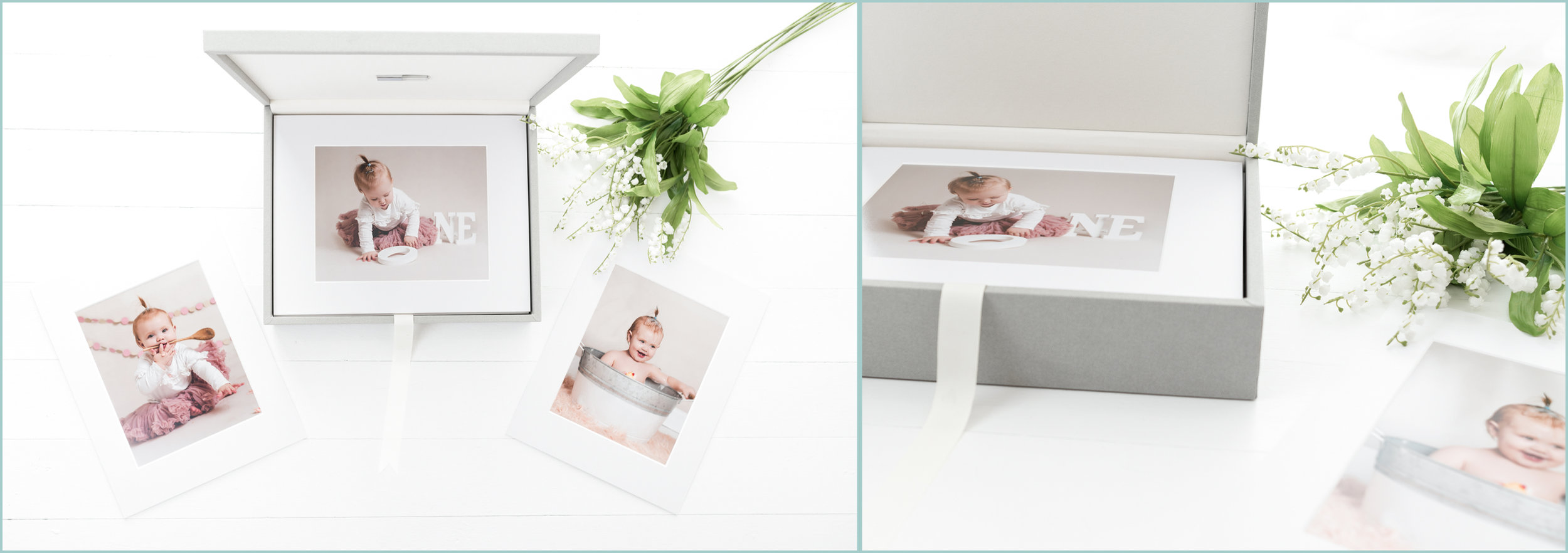 Products available with all Family, children's. cake smash photography sessions - luxury folio box