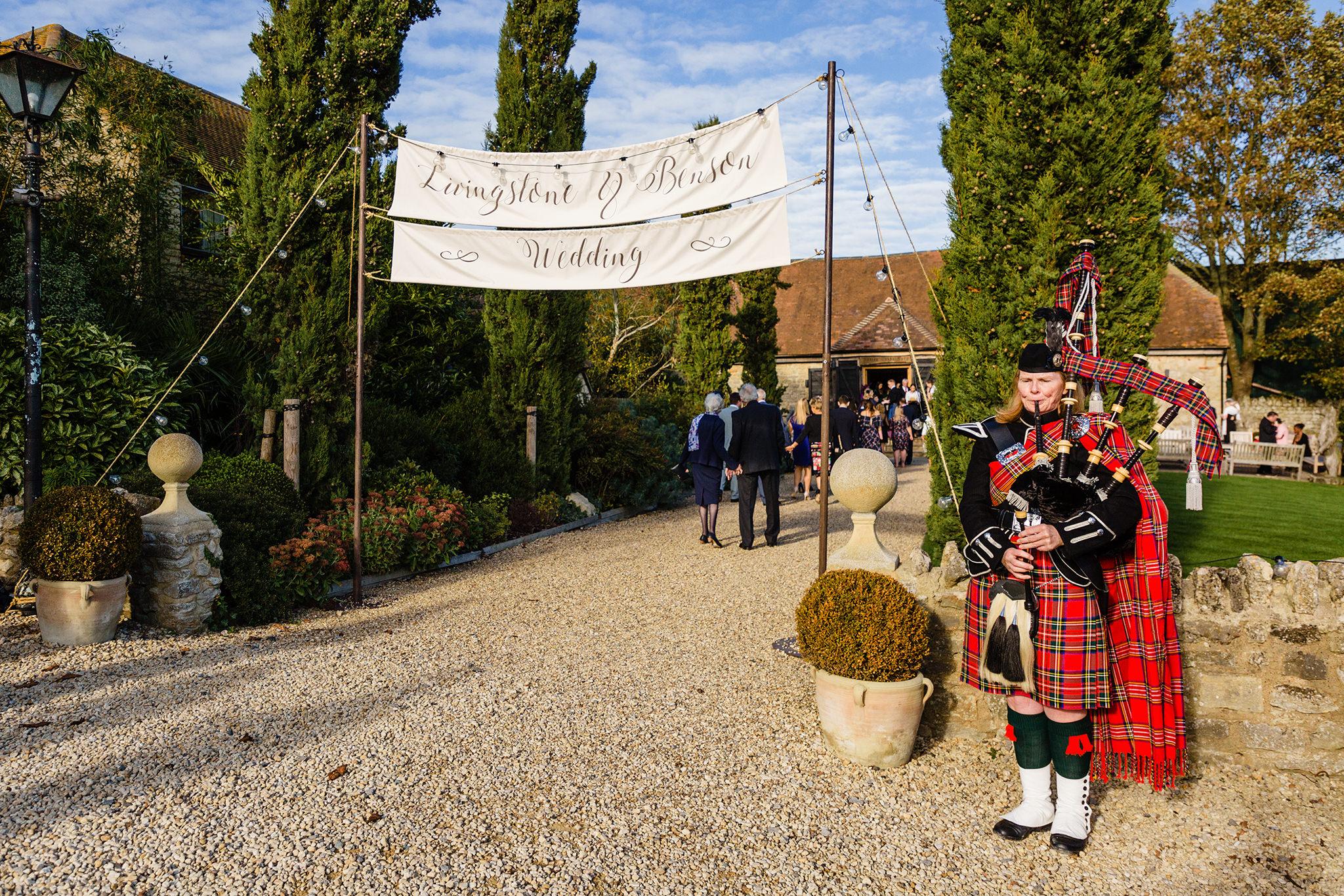 Reception at Notley Tythe Barn, Buckinghamshire