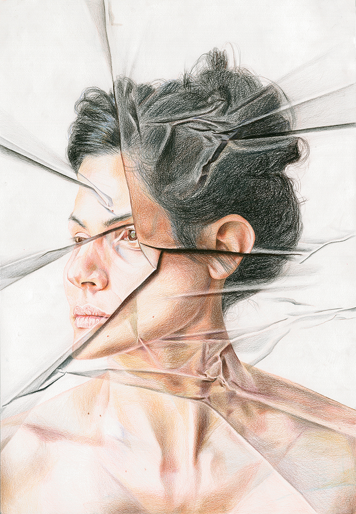 Distorted Portrait Drawing -