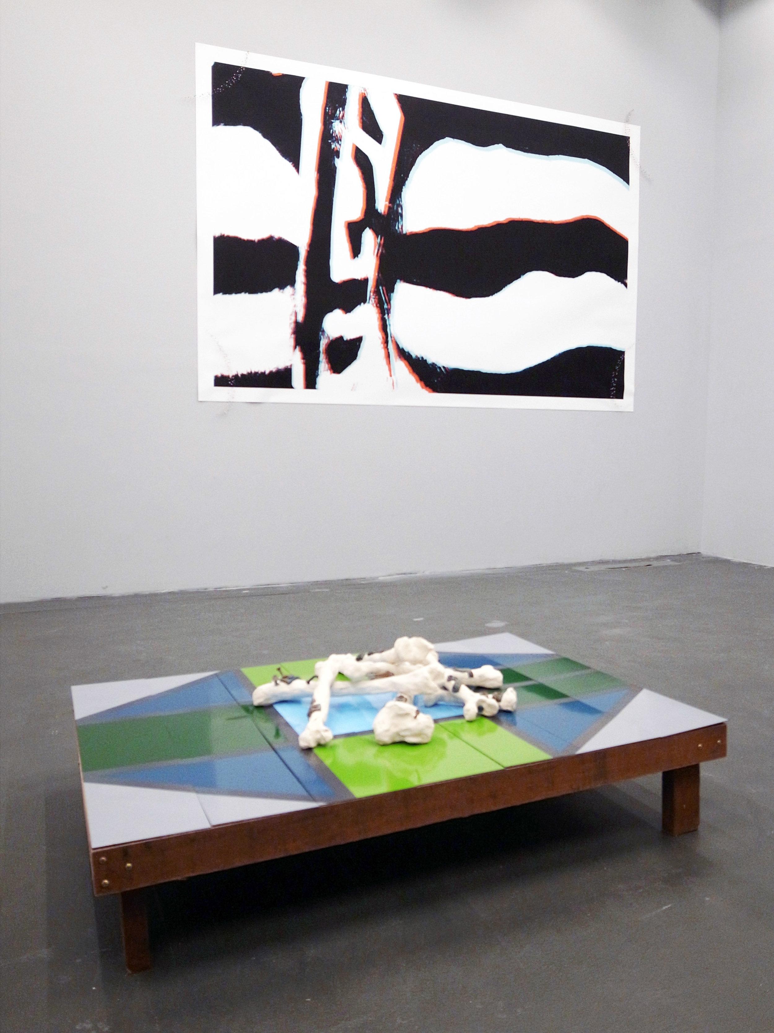 Installation shot of artist Matti Isan Blind's artwork.