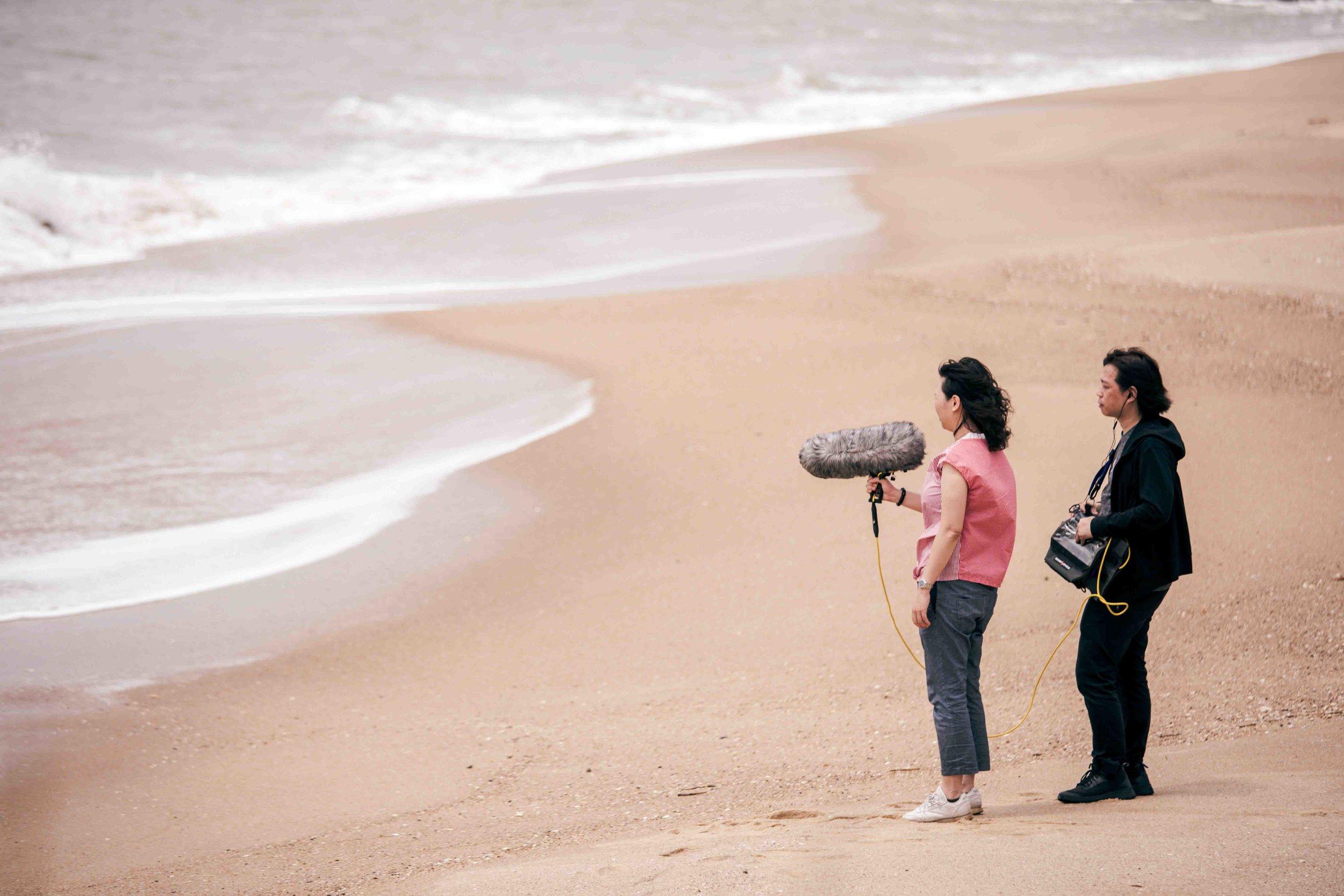 Field recording (Right: Wang Fu-Jui; Left: Ada Kai-Ting Yang) in Kinmen, 2018. Photographer: Jen-Chieh Liu