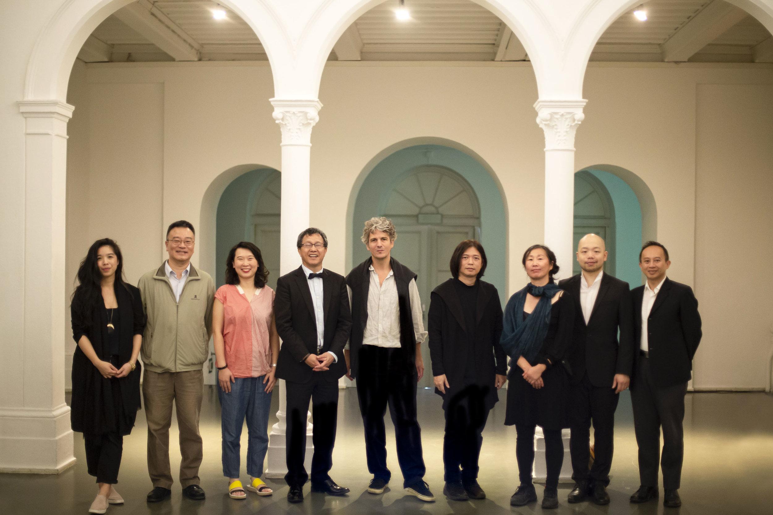 (From left):  Viola Yao, Pei-Jung Lee, Ada Kai-Ting Yang, Prof. Dr. Jhy-Wey Shieh, Augustin Maurs, Wang Fu-Jui, Li-Ping Ting, Ya-Chung Huang and Aaron Liu