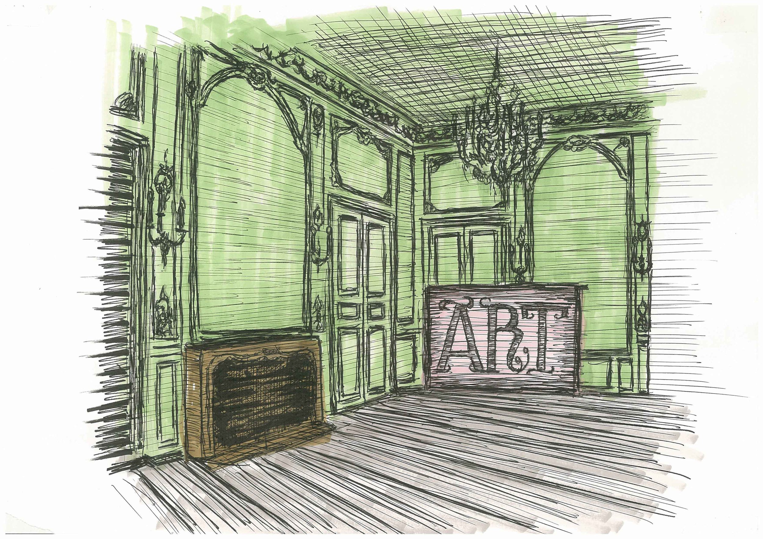 'Salon' sketch by Santiago Soux