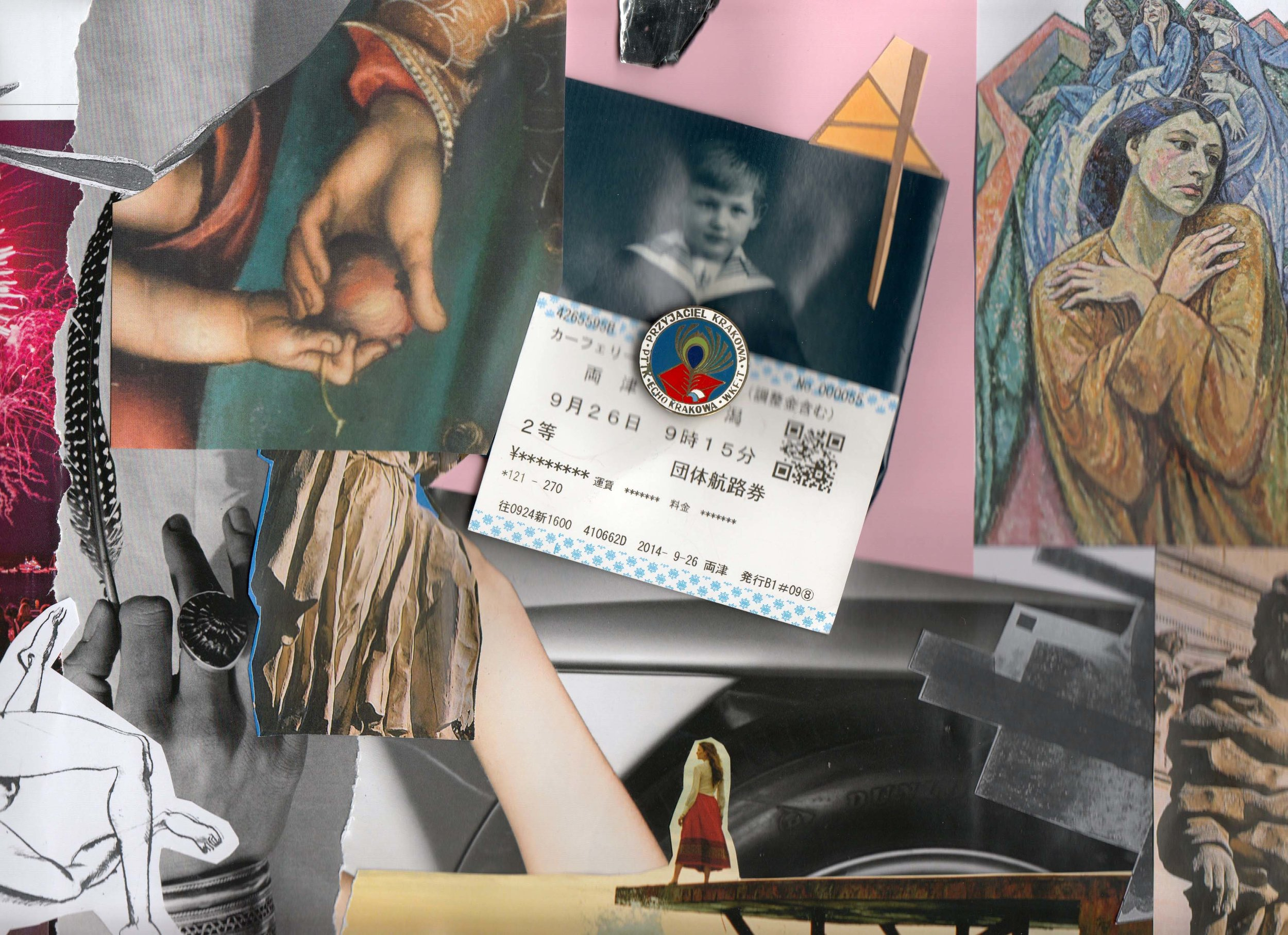 Culture photomontage - Ticket & Pin (2015)
