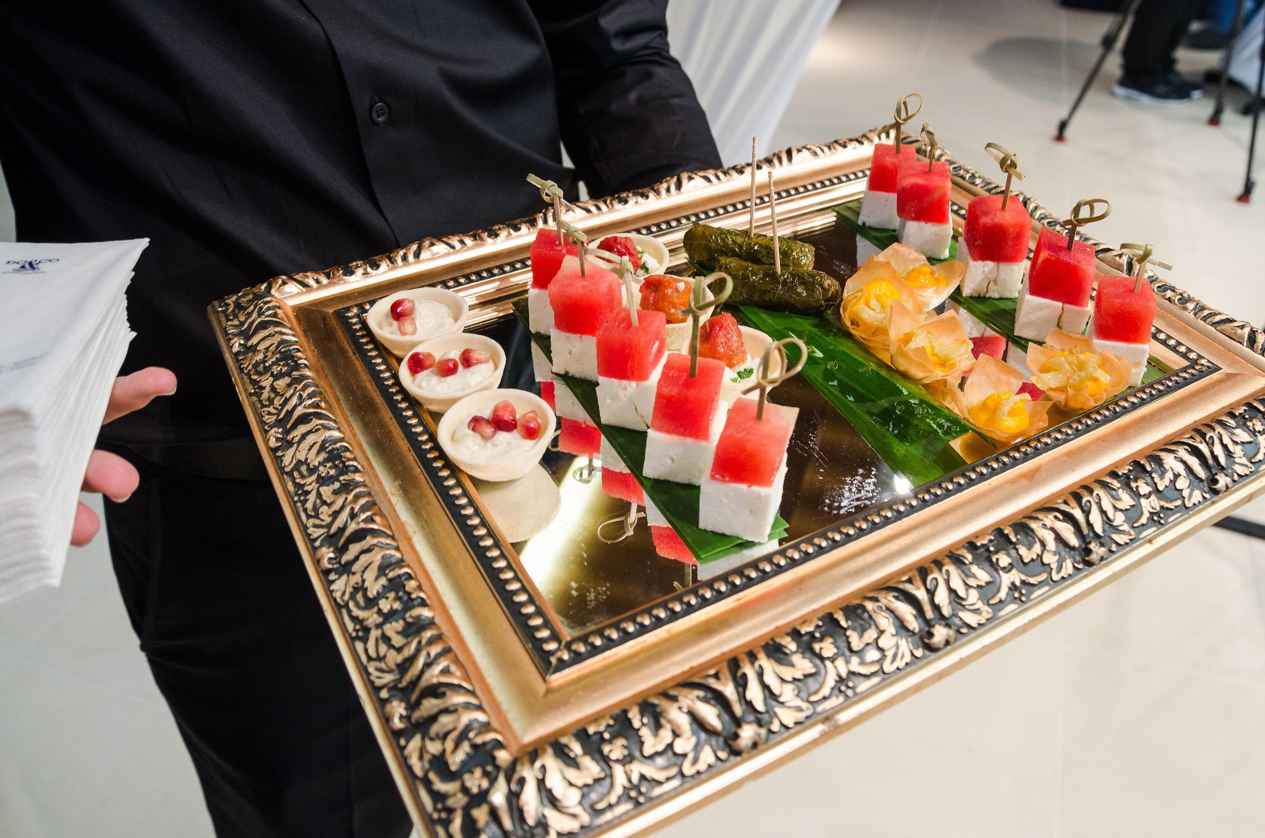 A large variety of imaginative Canapés