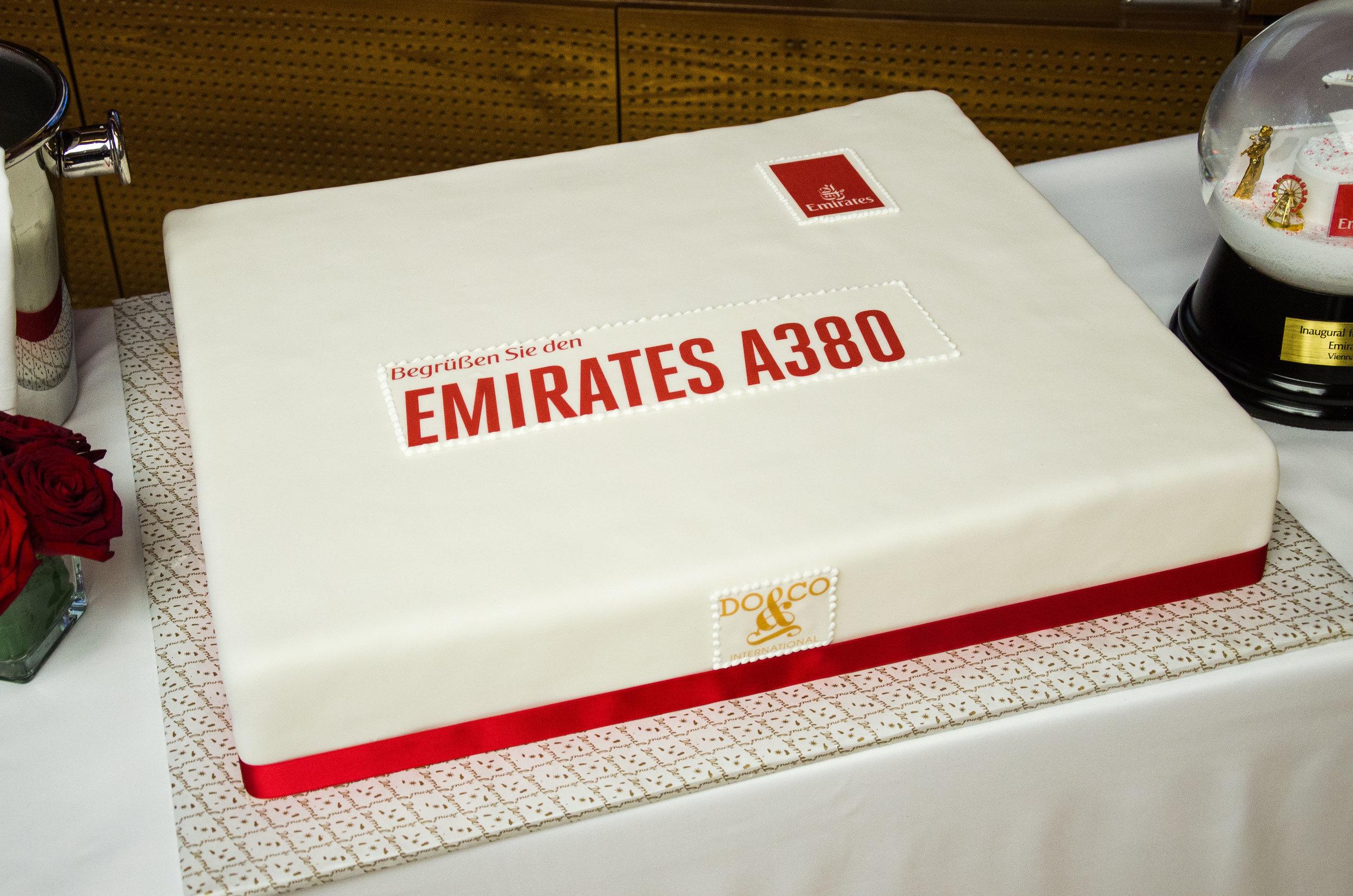 The celebration cake made by Do&Co