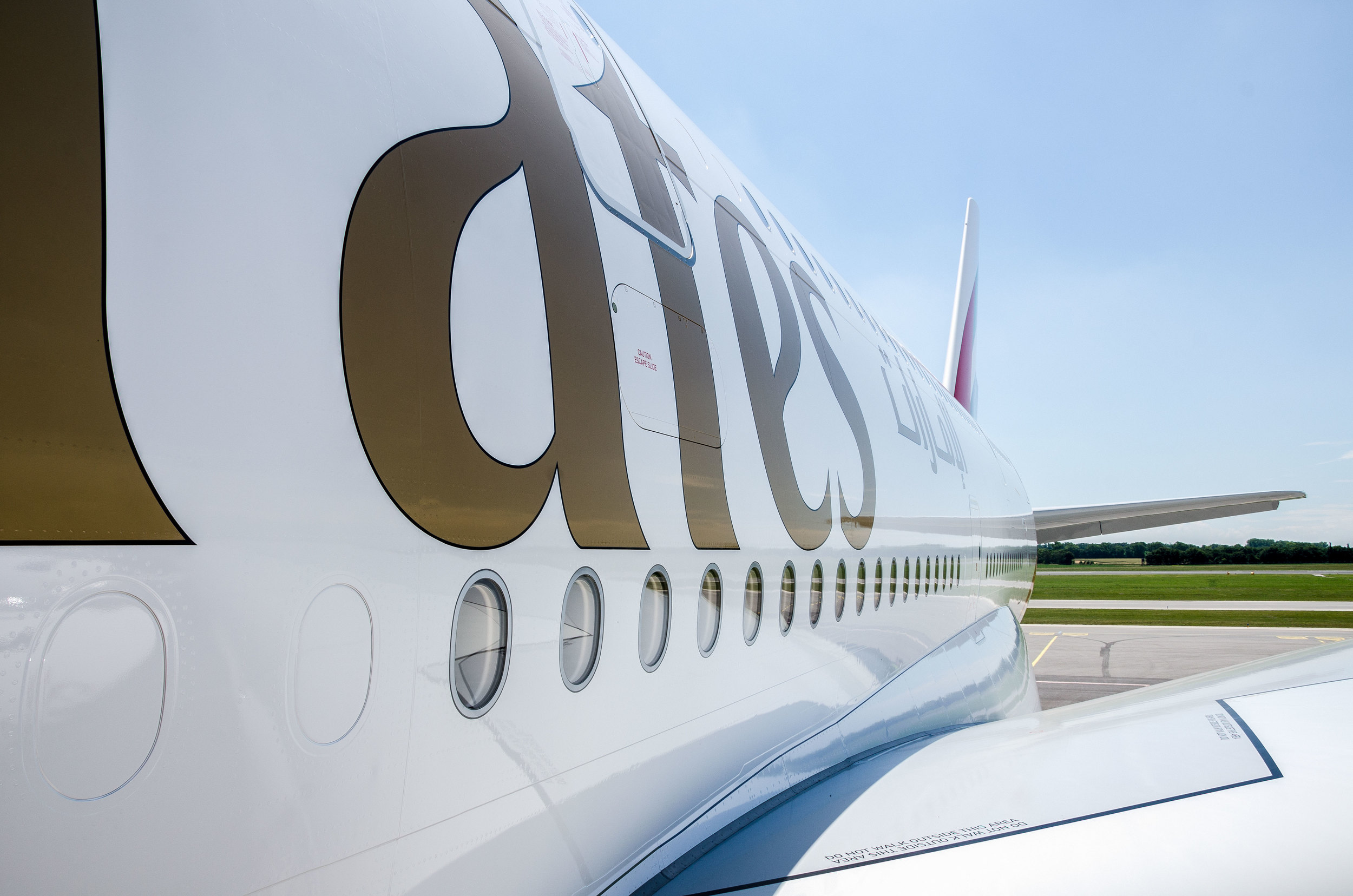 The three-class configured A380 can seat up to 519 passengers