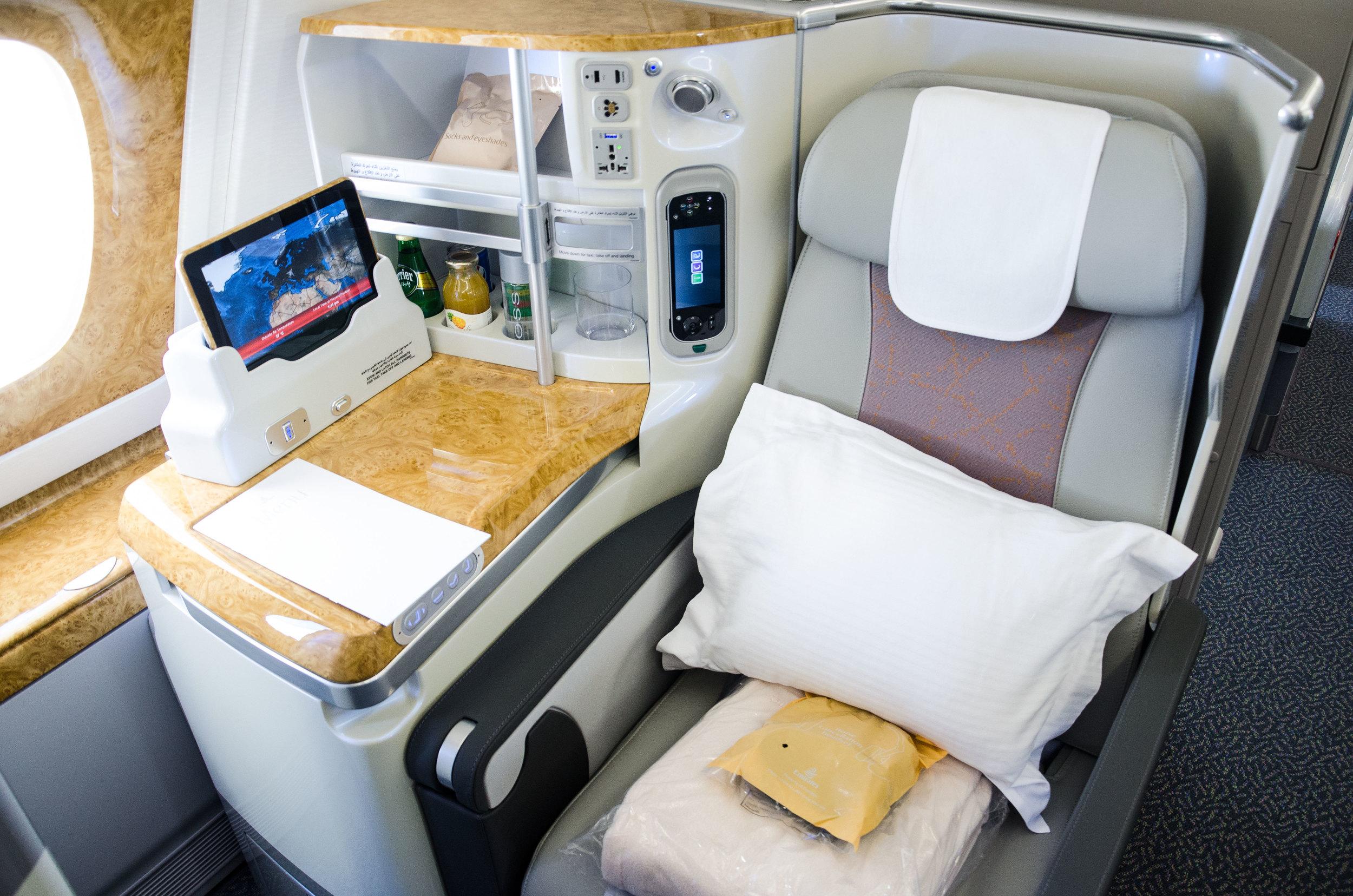 Emirates' Business Class Seat