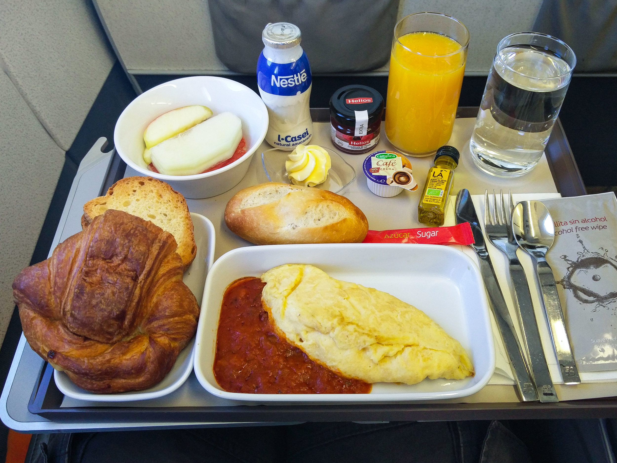 The hot breakfast on my connecting flight to Vienna.