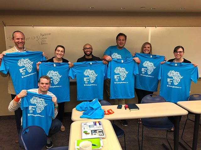 Our Student Development Team is getting excited for our 5K run in 2 DAYS!!! $10 for these sweet shirts! Each participant equals a lifesaving  bed net! Registration begins at 8:15AM on Saturday! #endmalaria #nightofnets