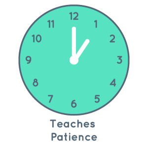 Teaches patience and turn taking