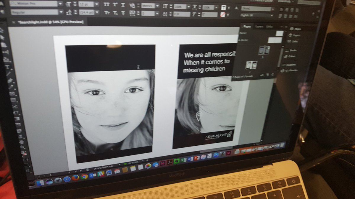 Poster mockups being created by our guest creative Georg Thesmann