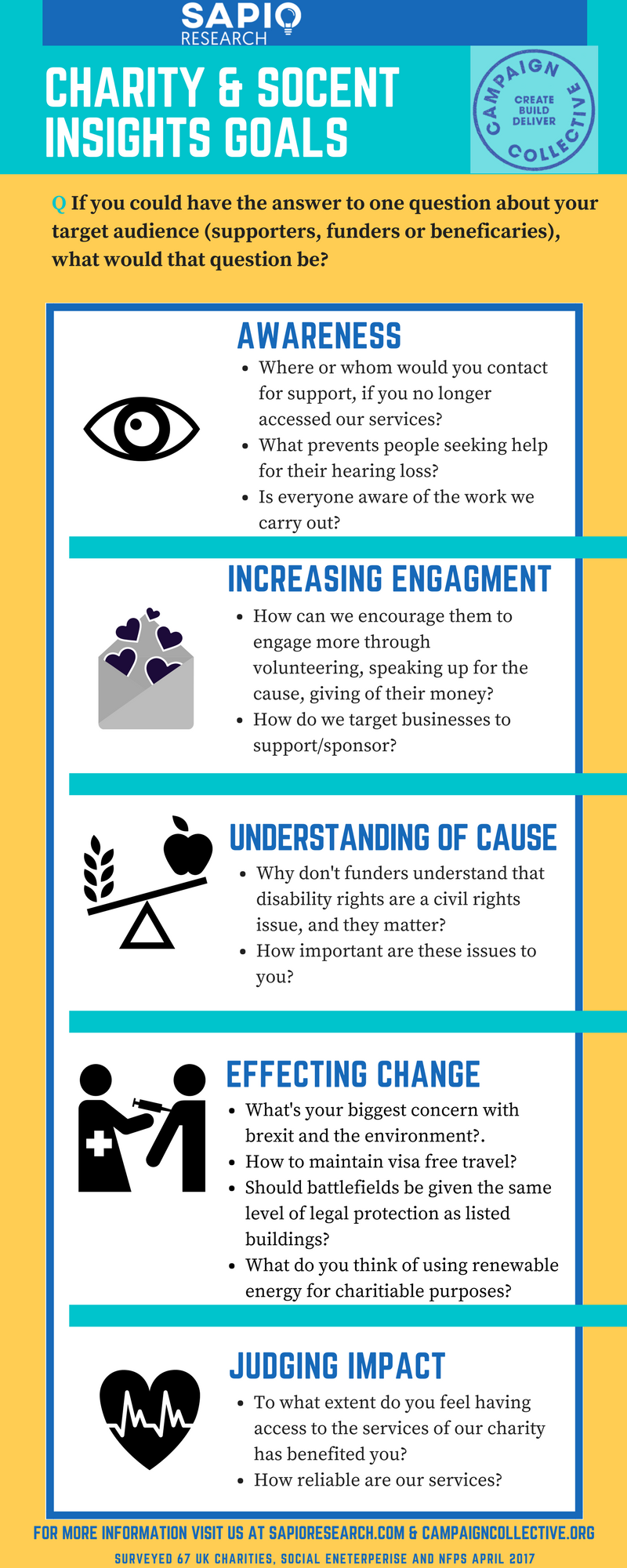 infographic charity and Social Enterprise Research Goals