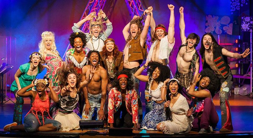 The cast of Hair.