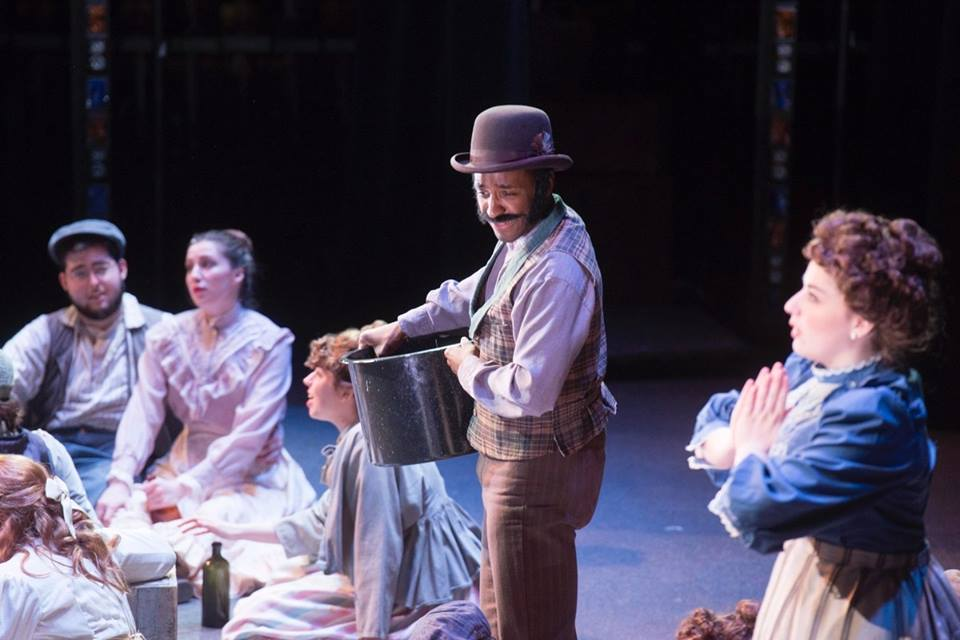 Devin and the cast of Carousel.