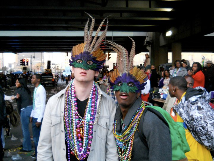 Devin in New Orleans for Mardi Gras.