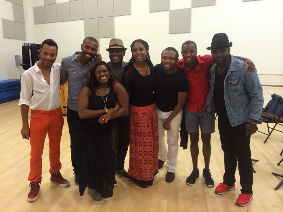 The cast of Bebe Winan's Where We Belong.