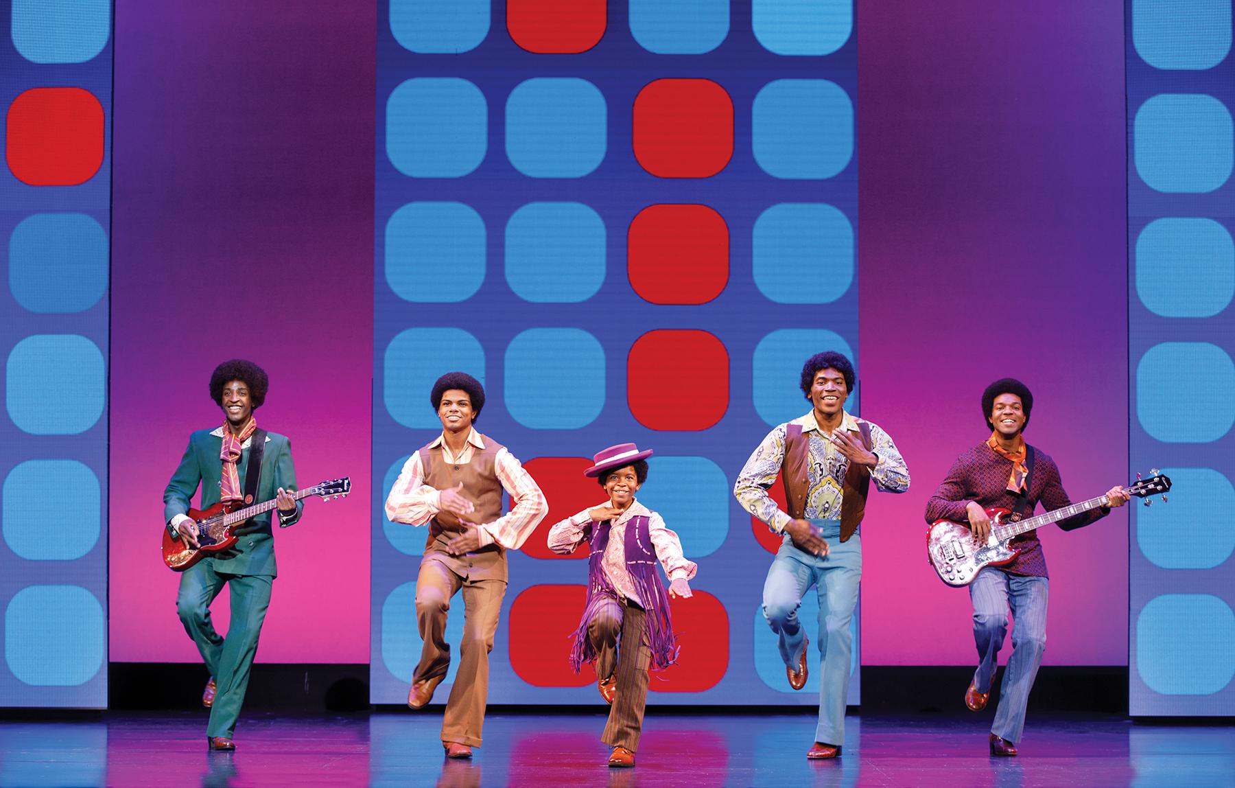 Devin, DeAundre' Woods, Kai Calhoun, Jamari Williams, and Eric Patrick as The Jackson 5 in Motown the Musical.