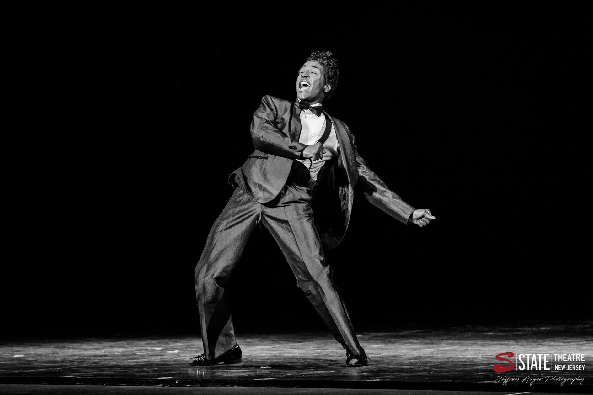 Devin as Jackie Wilson in Motown.