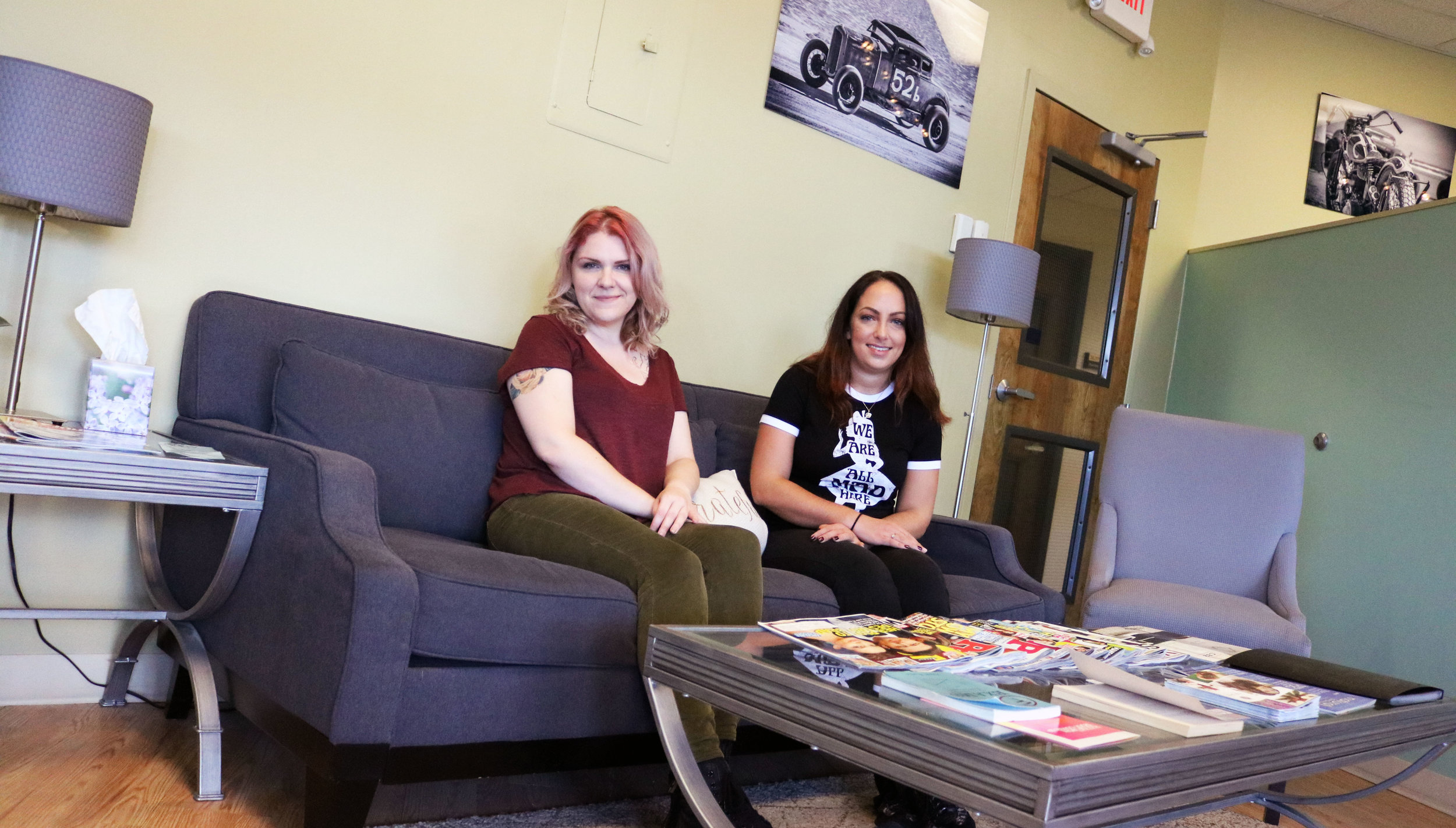 YOUR FALL SKIN SPIRIT GUIDES:  Allison Holub (left), owner and master stylist and Emily Neve (right), makeup artist at Sato Salon Organics in Allentown