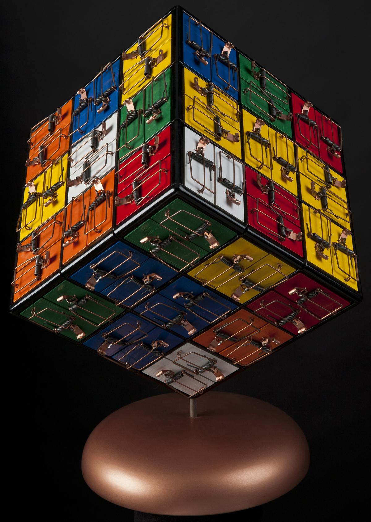 Rubik's Cube, 2012, 16 x 13 x 13 (Sold)