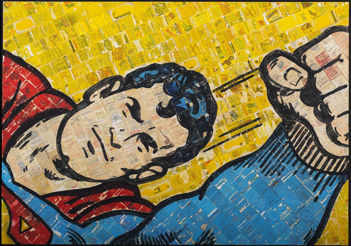 No Match for Superman, 2014, 30 x 42 (Sold)