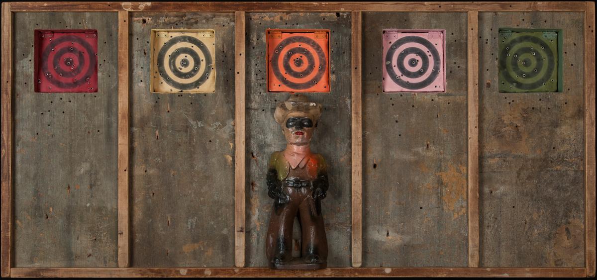 Take a Shot, 2012, 36 x 53 x 4 (Sold)