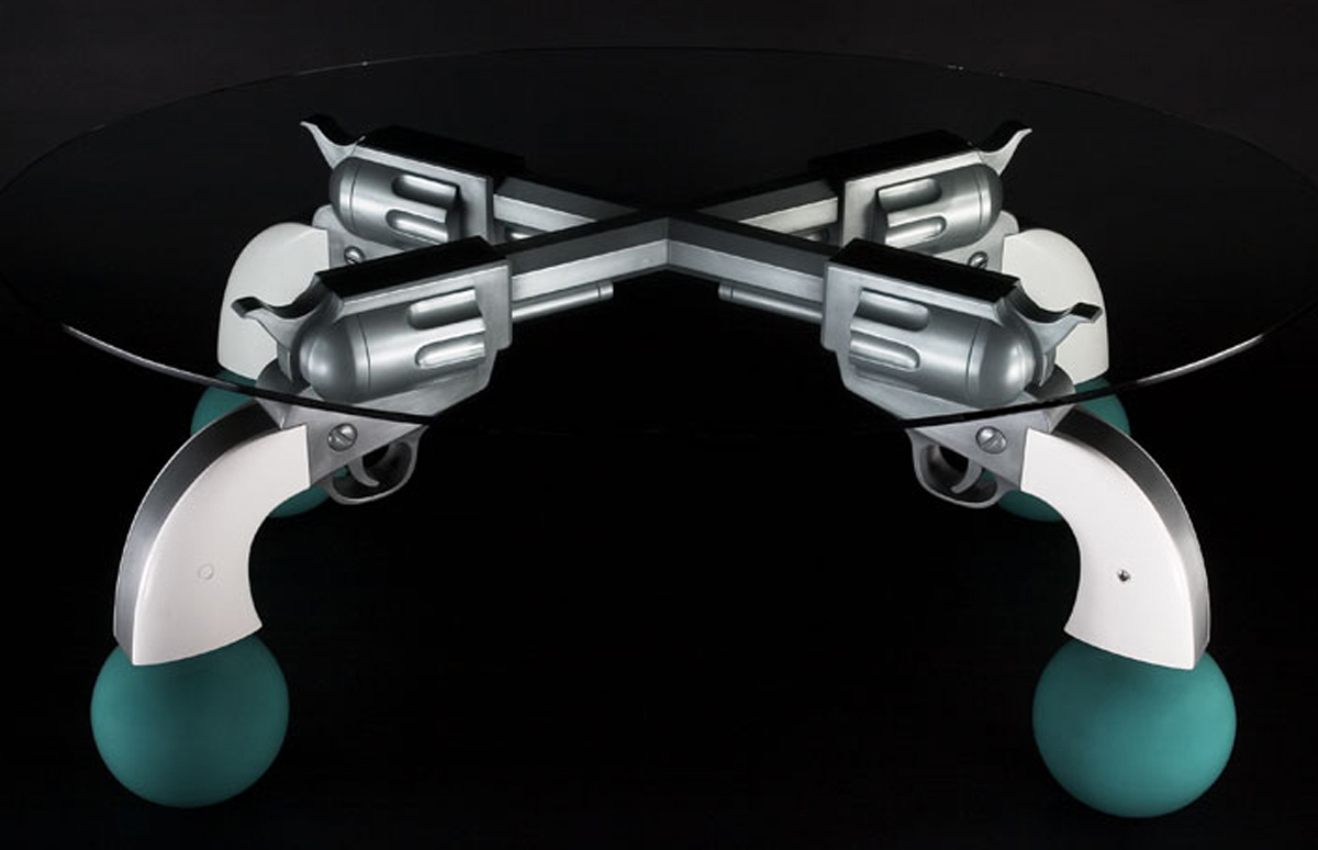 Guns Table, 2003, 28 x 71 x 49 (Sold)