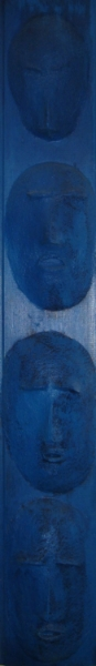 Four Blue Heads (SOLD)