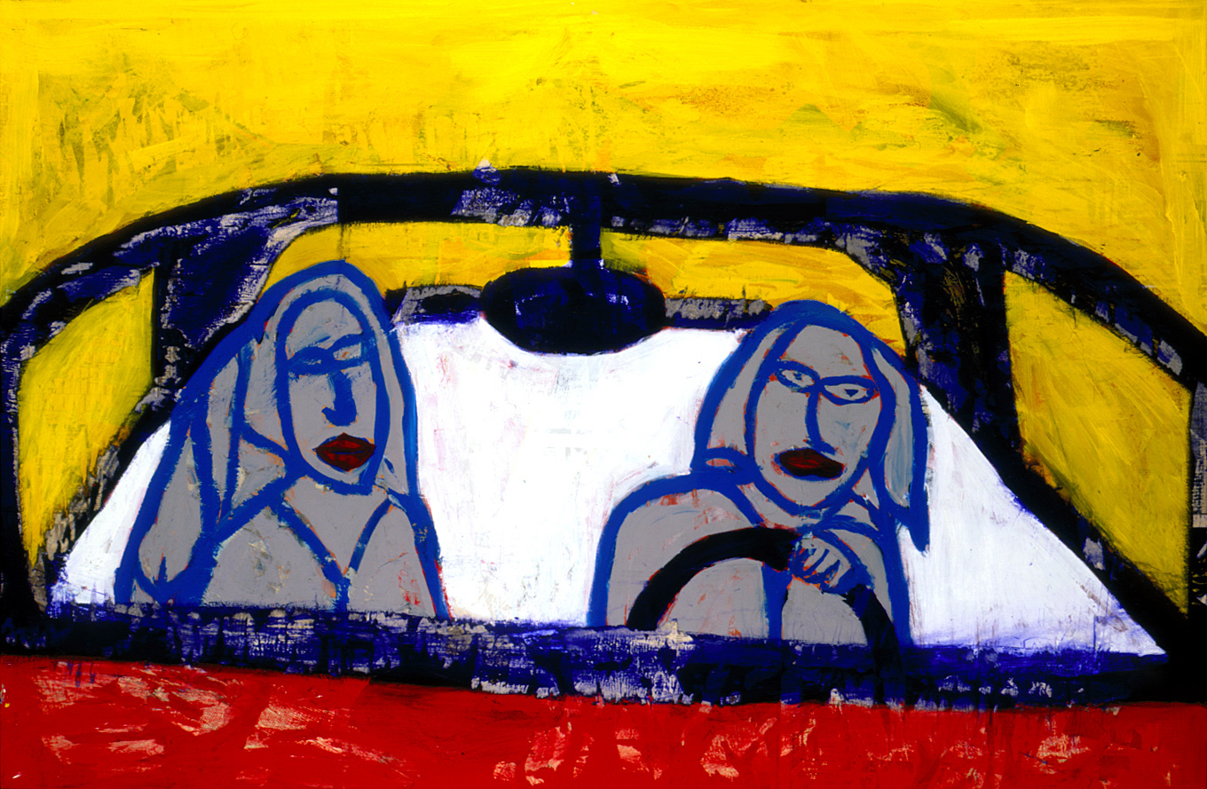 TWO CHICKS IN A CAR