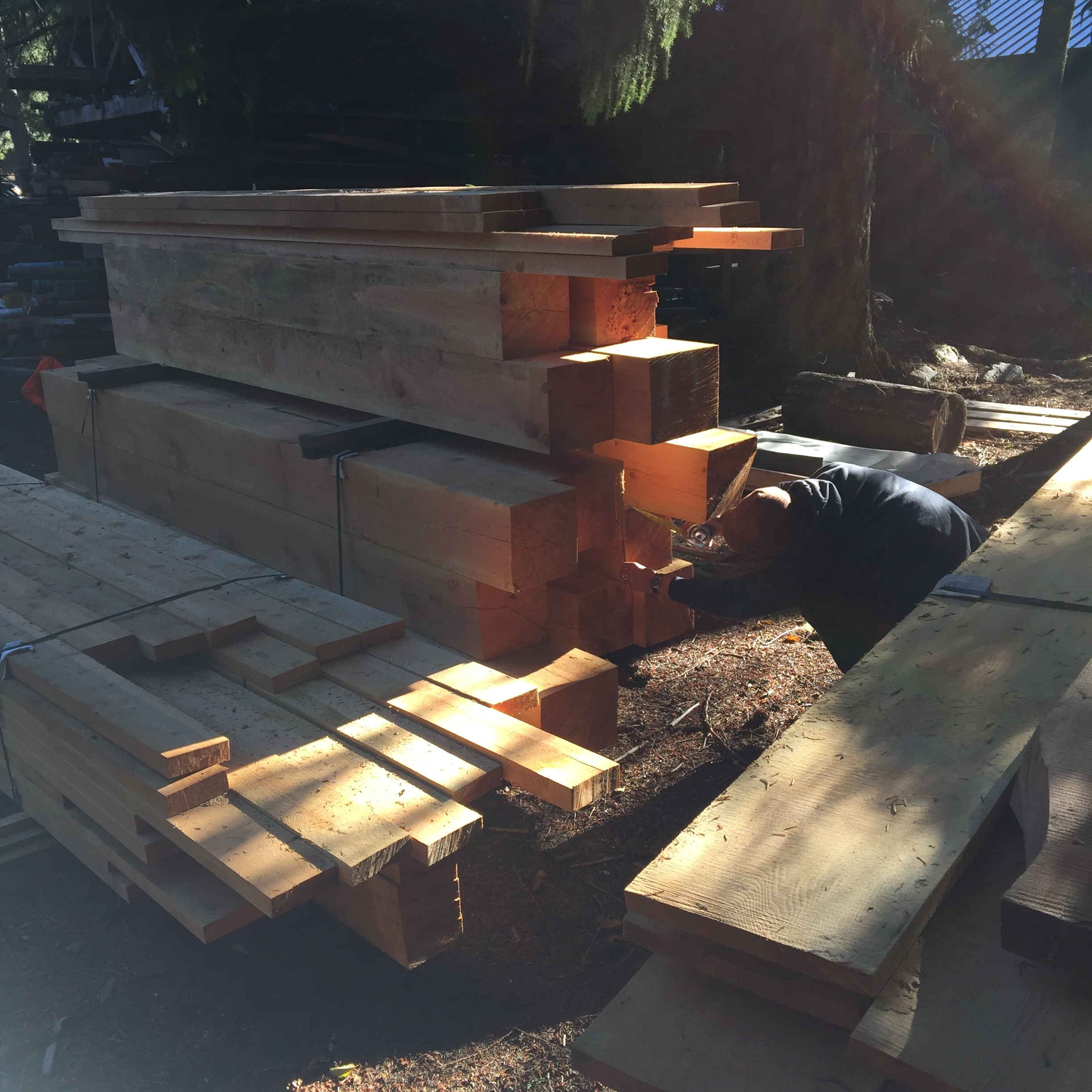 Selecting lumber for in-kind replacement