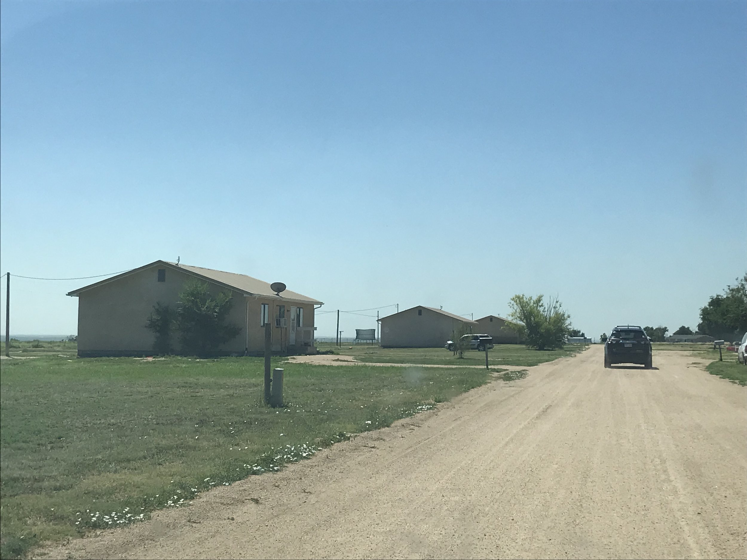 Farmworker housing, run by a housing authority in McClave, in rough shape.