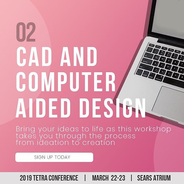 Introducing our second workshop: CAD and Computer Aided Design!  Three-dimensional modeling is an important phase of the ideation process and critically important when it comes to bringing your Assistive and Medical device ideas to reality. The skills learned in this workshop will also be practical for your participation in the 2019 Tetra Conference Case Competition!  The Computer-Aided Design (CAD) workshop will provide an introduction to the basic principles of parametric modeling in CAD using cloud-based software. Students will have the opportunity to learn the foundations of CAD which will allow them to practice and refine their skills on their own.  Tickets are STILL on sale! Grab yours now via the link in our bio!