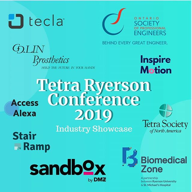 Today is the LAST DAY to buy your tickets!!! Don't miss out on our showcase featuring these industry members and project teams! Tetra Ryerson's Conference 2019 is packed with amazing speakers, a great panel, a case competition with an incredible prize, lots of food, and much more!!! Not to mention, the chance to be featured in a DOCUMENTARY on visual impairment made by an award winning director and producer!! Get tickets now by following the link in our bio!!
