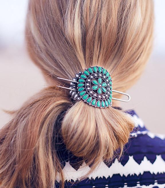 Turquoise Ponytail Holder