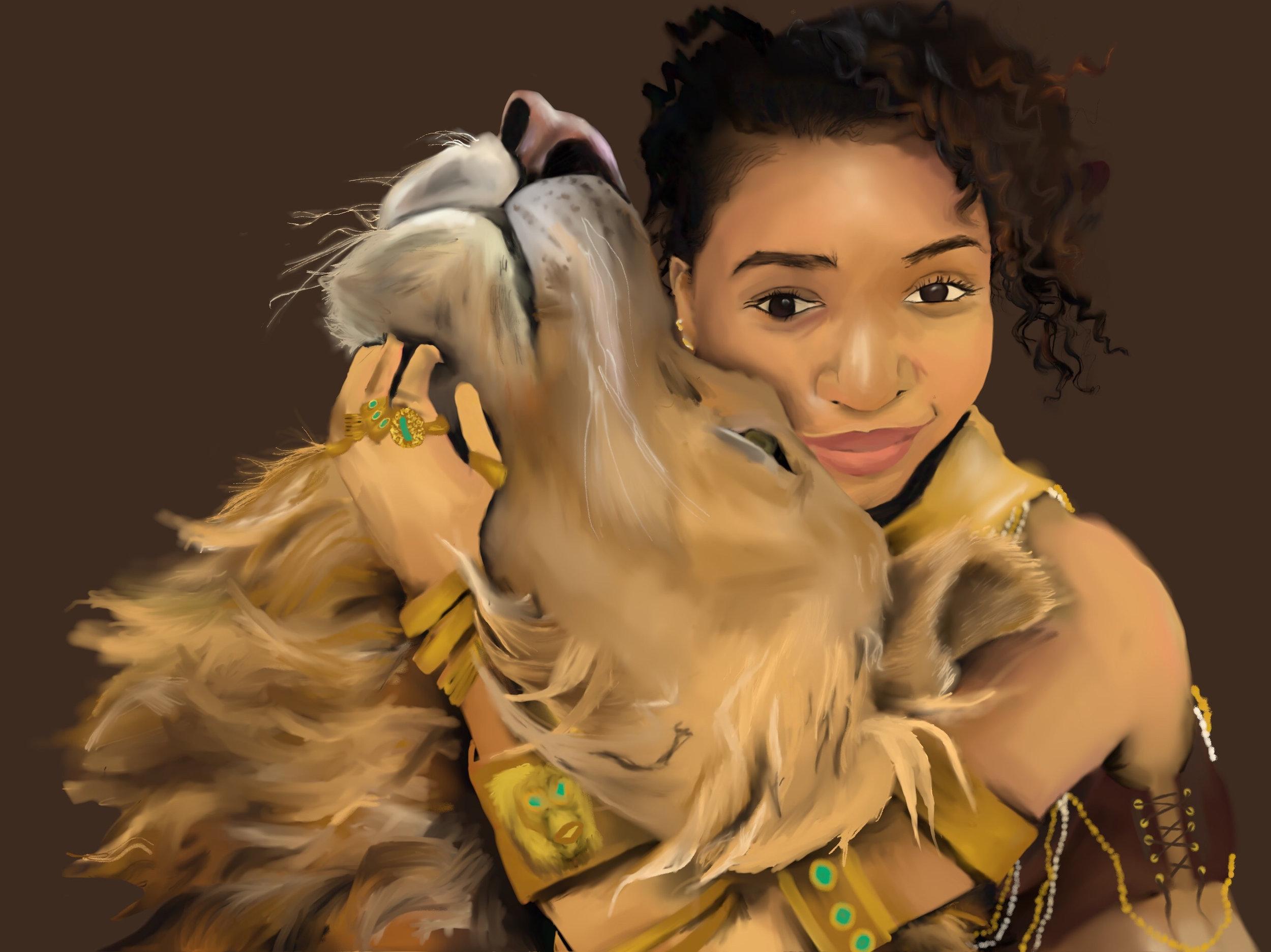 Lion 2 Her by W.D.Wind