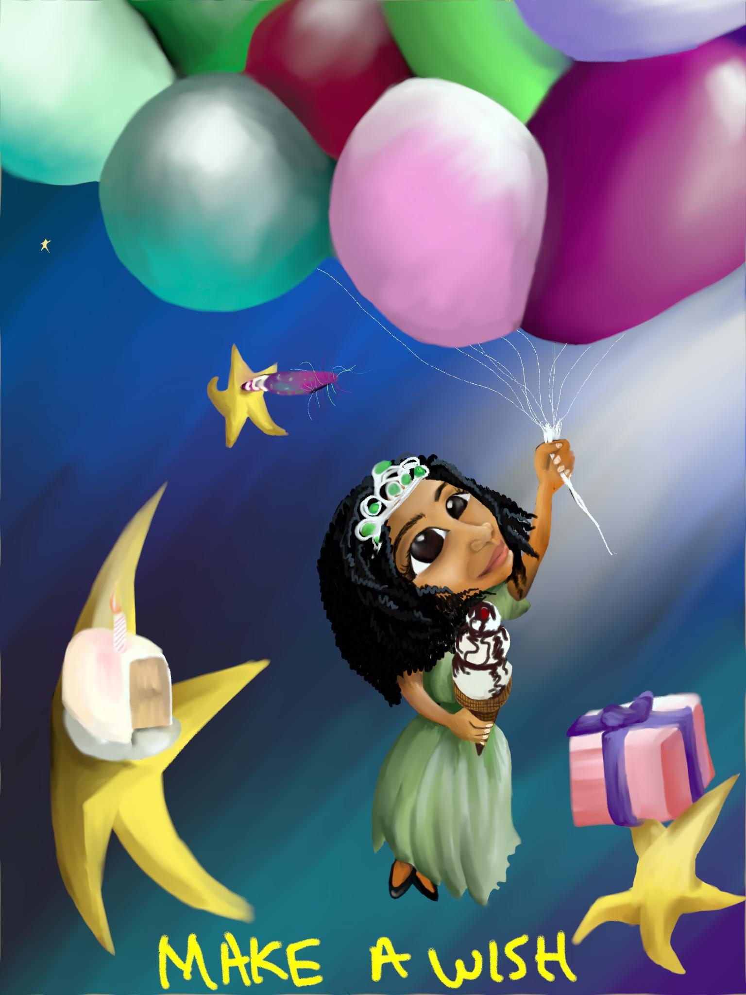 Make a Wish birthday Card by W.D. Wind