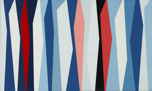 Red, White, Blue , 1957  oil on canvas 30 x 50 inches; 76.2 x 127 centimeters