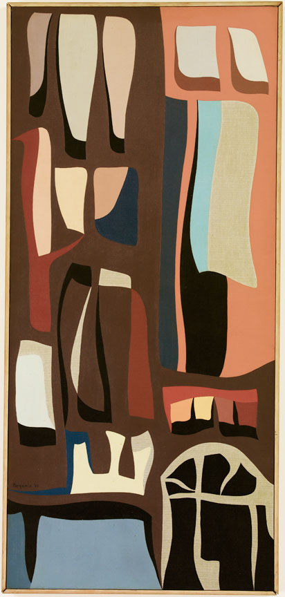 Window , 1955  oil on canvas 48 x 22 inches; 121.9 x 55.9 centimeters