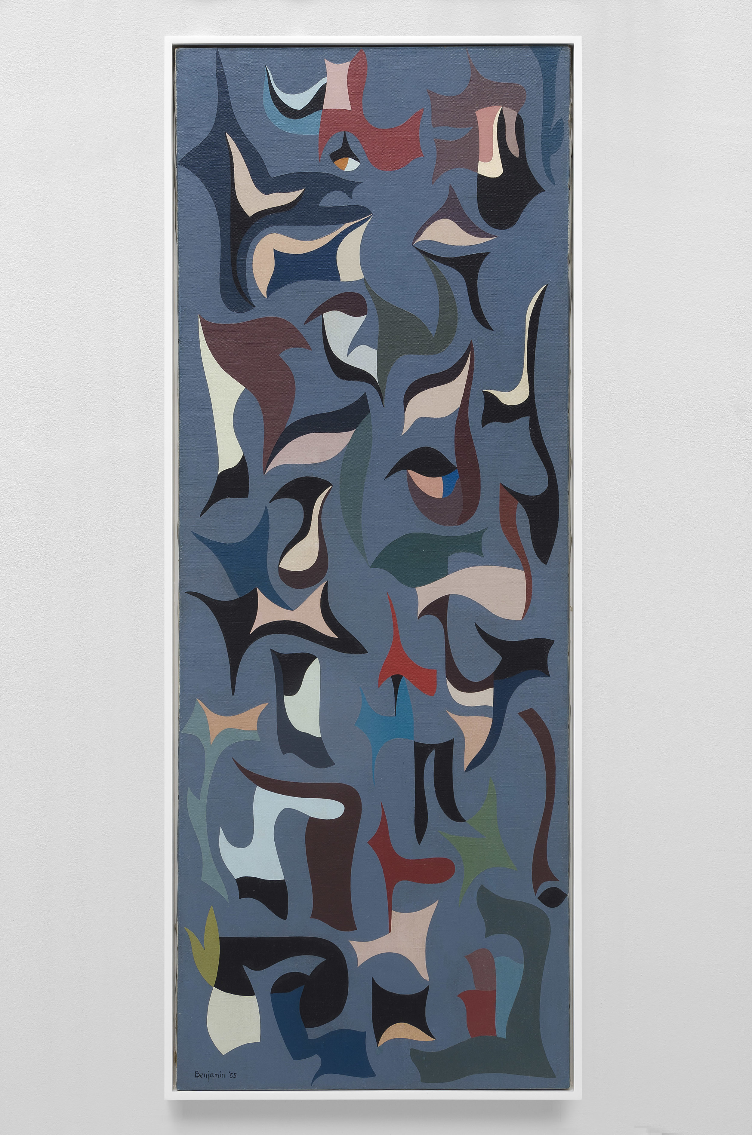 Untitled (Growing Forms) , 1955  oil on canvas 48 x 18 inches; 121.9 x 45.7 centimeters